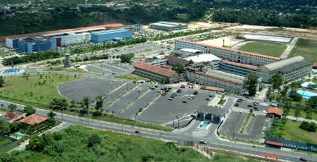 Vista aérea do Campus Laranjeiras da Nilton Lins